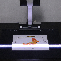 将2D画纸放到设备上扫描