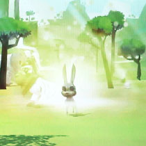 自创的3D版角色出现在预设场景中