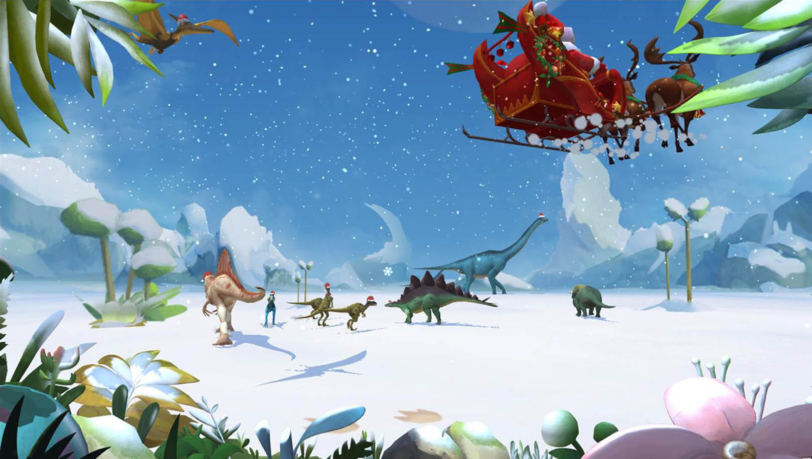 涂鸦乐园恐龙系列圣诞节版本
