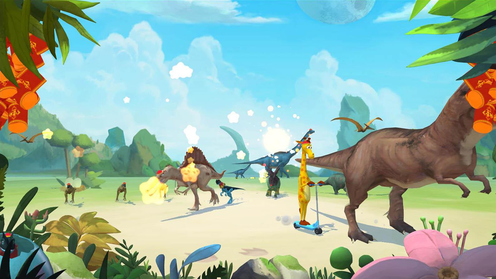 塗鴉樂園恐龍系列春節版本