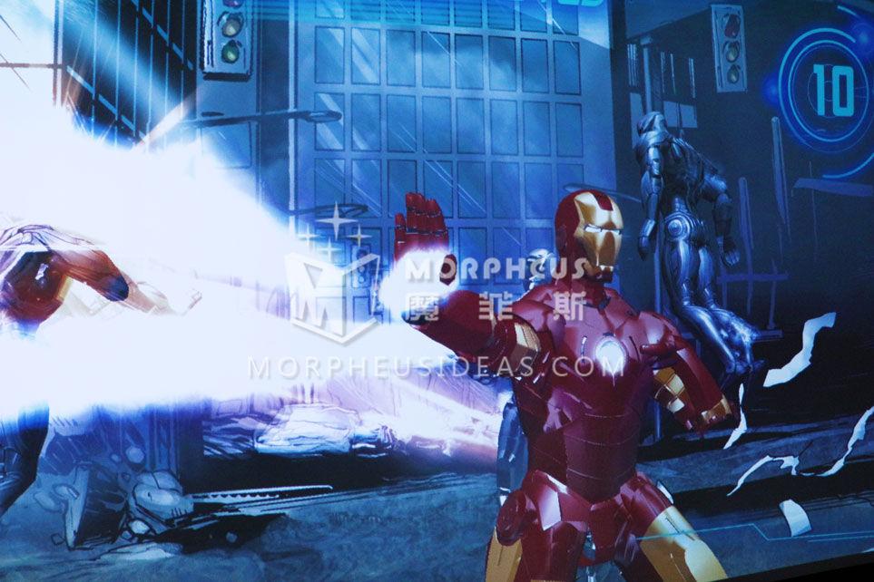 IRONMAN游戏中钢铁侠使用激光炮攻击的效果