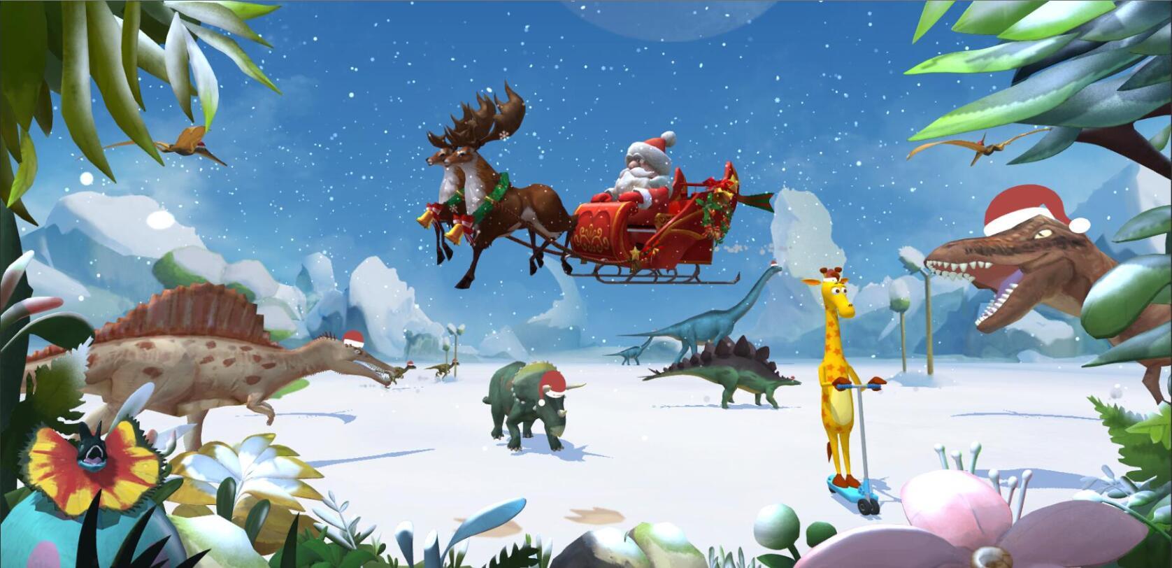 聖誕大搞作:恐龍們和聖誕雪人親子手工陪你過聖誕!