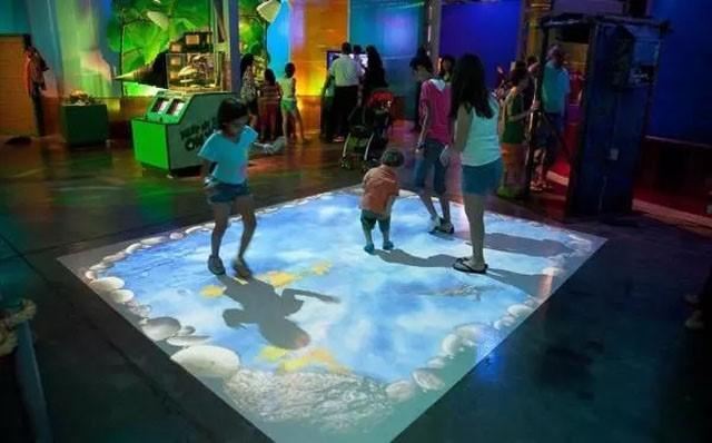 地面互動展覽展廳解決方案智慧展廳數位化展項