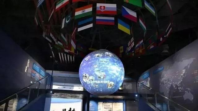"""國內首個""""一帶一路""""主題球幕投影亮相港口博物館"""