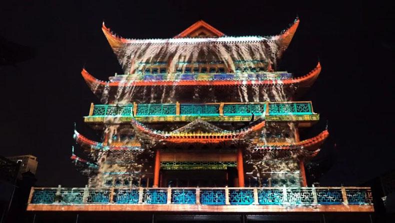 三皇宫3D mapping投影秀